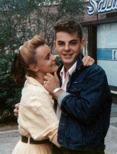 +~ Vintage Color Photograph ~+ Rockabilly Sweethearts
