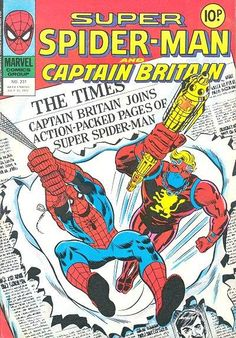 Marvel UK's Super Spider-Man and Captain Britain.  #SpiderMan #MarvelUK #CaptainBritain