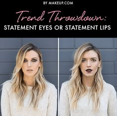Choosing between statement eyes and a statement lip is hard. What do you prefer: Lipstick or eye shadow?