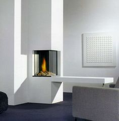 Find out all of the information about the Faber product: gas fireplace / contemporary / closed hearth / corner HONEST. Flame Picture, Wall Fires, Log Burner, Curved Glass, Gas Fireplace, Fireplaces, Guest Suite, Interior Accessories, Home Renovation