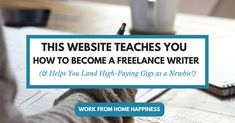This Site Helps You Land High-Paying Freelance Writing Gigs Writers Help, Writing Jobs, Landing, How To Become, Teaching, Check, Education, Onderwijs, Learning