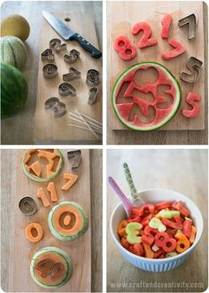 Läskande melonsiffror – Refreshing melon cut outs | Craft & Creativity – Pyssel & DIY