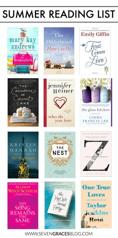The best summer reading list of 2016! The best chicklit and love stories to keep you entertained during the long days of summer.