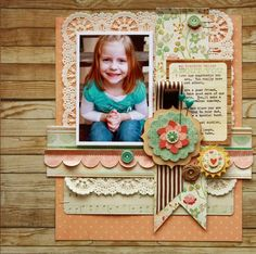 NSD Layout on Scrapbook and Cards Today Blog....Love it!