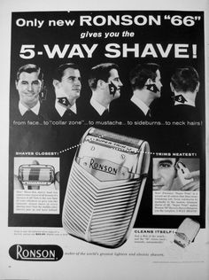 1957 Ronson Super Trim Electric Shaver Vintage Advertisement by RelicEclectic, $8.00