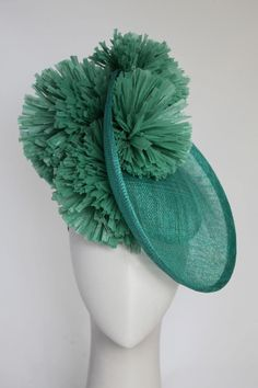 Green saucer #millinery #hat #judithm