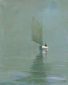 """""""Lone Sail"""",  40x32"""", Limited Edition giclee on canvas"""