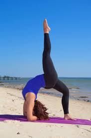 Yoga pose. Bridge Pose.