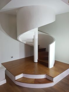 Perfect timber spiral stairway - a combination of craftsmanship, art & engineering - proudly made by MEWA Fine Woodworking Spiral Staircase, Fine Woodworking, Stairways, Craftsman, Engineering, Table Lamp, Lighting, Bespoke, South Africa