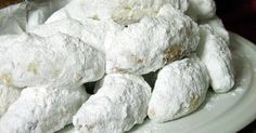 Great recipe for Kourabiedes. Extra delicious and fluffy kourabiedes. Kourabiedes are traditional greek butter cookies, usually made at Christmas time. Recipe by Sitronella Greek Sweets, Greek Desserts, Greek Recipes, Kourabiedes Recipe, Pastry Recipes, Dessert Recipes, Greek Cookies, Biscuits, Flourless Chocolate Cakes