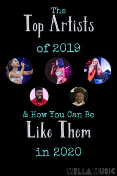 The Top Artists of 2019 can teach us a lot about how to grow our own music careers. Let's see what we can learn from the top artists this year! Music Logo, Rap Music, Popular Music Artists, New Music Albums, Hip Hop Quotes, Music Promotion, Music Aesthetic, Music Pictures, Guitar Songs