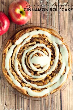 Decadently delicious, this spiced apple cinnamon roll cake with blow you away with flavor! #TimetoBelieve #CleverGirls @icbinotbutter