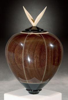 Kim Blatt Woodturning : Vessel Gallery One : Wenge Vessel