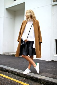 The Front Row View: Outfit Inspiration: How to Style White Trainers