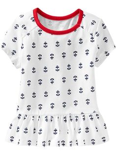 Patterned Peplum-Hem Tees for Baby Product Image