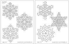 Step 1 Snowflake Window Clings craft