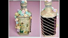 Decoupage Vintage, The Creator, Bottle, Rose, Pink, Flask, Roses, Jars