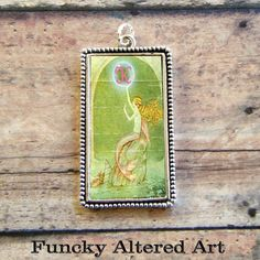 MERMAID Fairy INITIAL Pendant by ProjectBunny on Etsy, $12.00