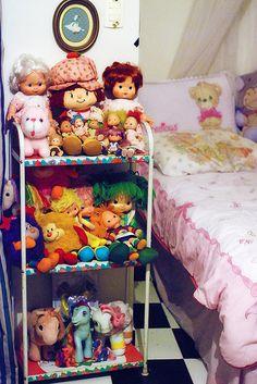 80s girl room