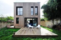 House wooden elevation - SKP Architecture - France