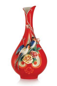 porcelain Art NEW__ FRANZ__ Porcelain Vase