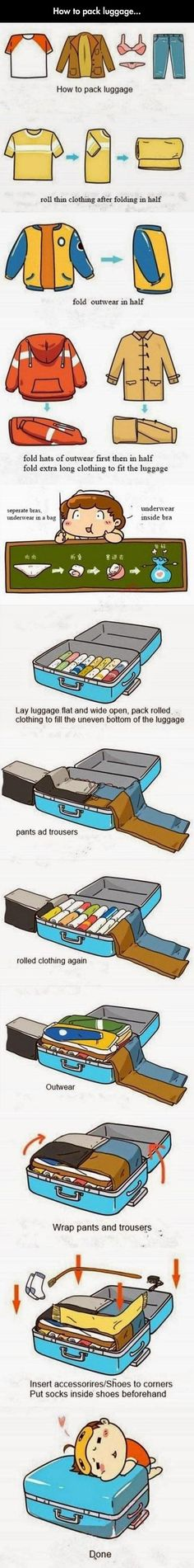 Funny pictures about Learn How To Pack Luggage Properly. Oh, and cool pics about Learn How To Pack Luggage Properly. Also, Learn How To Pack Luggage Properly photos. Packing Tips, Travel Packing, Travel Tips, Luggage Packing, Smart Packing, Travel Outfits, Travel Fashion, Travel Hacks, Camping Hacks