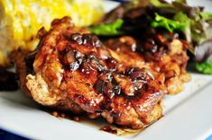 This is a quick and easy recipe that never fails to please even my picky DDs. Since chicken thighs are usually inexpensive it makes a economical meal. I like to serve these with some type of rice side dish and a green salad. Balsamic Chicken Thighs, Balsamic Vinegar Chicken, Paleo Recipes, Cooking Recipes, Kitchen Recipes, Free Recipes, Rice Side Dishes, Main Dishes, Chicken Thigh Recipes