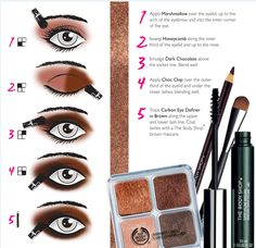 Take your eye make-up from drab to fab with our Chocolate look. Use Shimmer Cubes, Eye-definer and Mascara to create dramatic beautiful eyes. Body Shop At Home, The Body Shop, Hair And Makeup Tips, Hair And Nails, Chocolate Makeup, Chocolate Box, Makeup Inspo, Makeup Inspiration, Brown Mascara