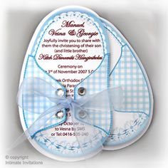 Homemade Baby Shower Invitations | this is for 12 boy baby shower invitation baby booties with blue ...