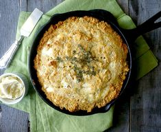 Gluten-Free Goat Cheese and Thyme Skillet Cornbread - Healthy Recipe Ecstasy (HRx) Thanksgiving Recipes, Fall Recipes, Holiday Recipes, Christmas Recipes, Gluten Free Cornbread, Skillet Cornbread, Almond Milk Cheese, Goat Cheese, Healthy Cooking