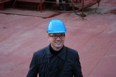 Jacob A. Sterling, Head of Climate and Environment at Maersk Line, on board Ebba Maersk