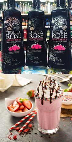 Tequila Rose Now @ Tesco Groceries Tequila Mixed Drinks, Mixed Drinks Alcohol, Alcohol Drink Recipes, Tequila Rose, Fireball Recipes, Baileys Recipes, Cocktail Drinks, Alcoholic Drinks, Beverages