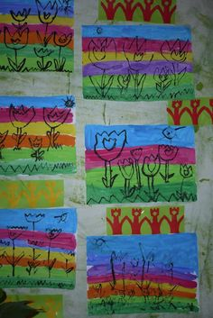 Jaro Spring Activities, Activities For Kids, Kids Artwork, Flower Crafts, Art Education, Kindergarten, Projects To Try, Techno, Easter