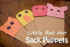 Life with Moore Babies: The Little Red Hen Sack Puppets