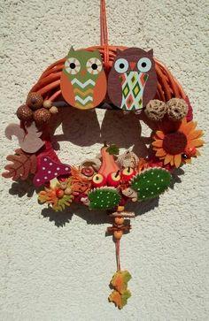 Őszi ajtódísz Fall Decor, Holiday Decor, Door Wreaths, Autumn, Christmas Ornaments, Decoration, Home Decor, Xmas Ornaments, Homemade Home Decor