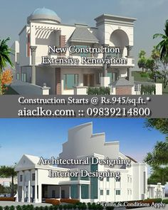 New Construction; Extensive Renovation; Architectural Designing; Interior Designing; Landscape Designing; Construction Management Consultants; Project Management Consultants. ⁣ ⁣ Architectural Innovations & Construction, Lucknow: Architects, Engineers, Interior & Landscape Designers & Construction Management Consultants.