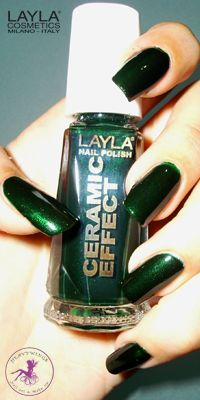 Ninja Polish: Layla - CE-10 Green Fever, from the Ceramic Effect collection