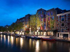 Andaz Amsterdam by night