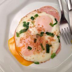 Eggs and ham and garlic Yummy