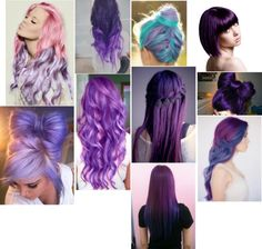 """""""Cute purple hair styles"""" by mrs-tomlinson777 ❤ liked on Polyvore"""