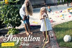 NEED A BREAK but can't get away!  Let these ideas spark your creativity for a family staycation!