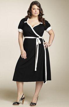 25a9ae797b Moda Estilo Y Distinción Para Gorditas  Vestidos de Fiesta Vintage Talles  Especiales Vestido De Rallas