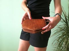 Aged Bohemian Clutch Antique Industrial by BlastFromThePastBags