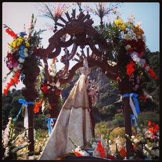 Romería de la Virgen de Flores (Álora). Pilgrimage of Our Lady of Flores (Álora). #romería #pilgrimage #pueblo #village #fiesta #party