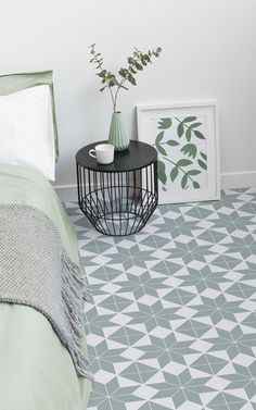 Brittany is a Victorian Tile Effect Vinyl Flooring design that is available in Navy, Orange and Light Green. The chunky geometric tile pattern of this design makes for a modern take on classic Victorian tiles, resulting in a perfect flooring option for contemporary and traditional home styles. #vinyl #flooring #inspiration #design #decor #home #homedecor #interior #interiordesign #Ihavethisthingwithfloors