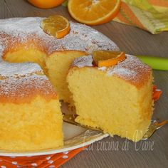 Chiffon Cake all'arancia, una nuvola golosa e profumata, un dolce alto e soffice…