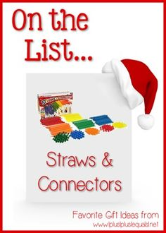 Christmas Gift Ideas ~ Straws & Connectors --- @{1plus1plus1} Carisa is sharing her top ten ideas from now until Christmas!