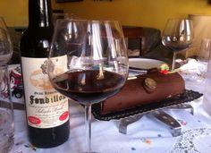 Maridando el vino Fondillón de Salvador Poveda con un brazo de chocolate