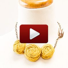 Creating Fabric Rosettes Video- Fabric Rosettes are a lovely addition to wearable art projects. You can create necklaces, brooches, hair accessories and much more! Fabric Rosette, Fabric Art, Rosettes, Faux Flowers, Fabric Flowers, Silk Flowers, Felt Glue, Bead Shop, Everyday Objects