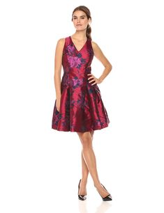 Tommy Hilfiger Womens Peony Jaquard Sleeveless Dress Scarlet Multi 16 >>> For more information, visit image link. (This is an affiliate link) Tommy Hilfiger Women, Fashion Sale, Formal Dresses, Dresses Dresses, Cool Style, Peony, Scarlet, Image Link, Amazon
